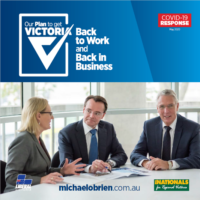 Liberal Nationals Bold and Ambitious Plan to Get Victoria Back to Work and Back in Business